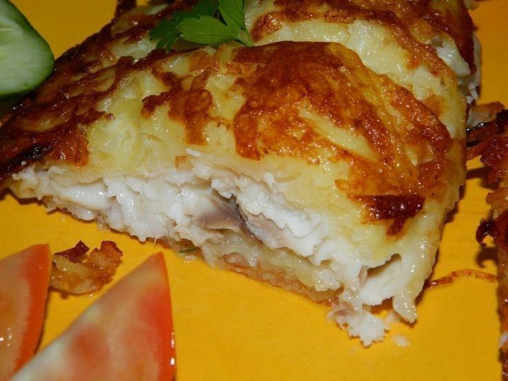 """Рыбка в """"шубе"""". Рыбка в хрустящей картофельной корочке вполне может стать одним из наиболее любимых блюд в вашей семье.  Понадобится: филе рыбы (я брала... - Bon Appetit - Google+"""