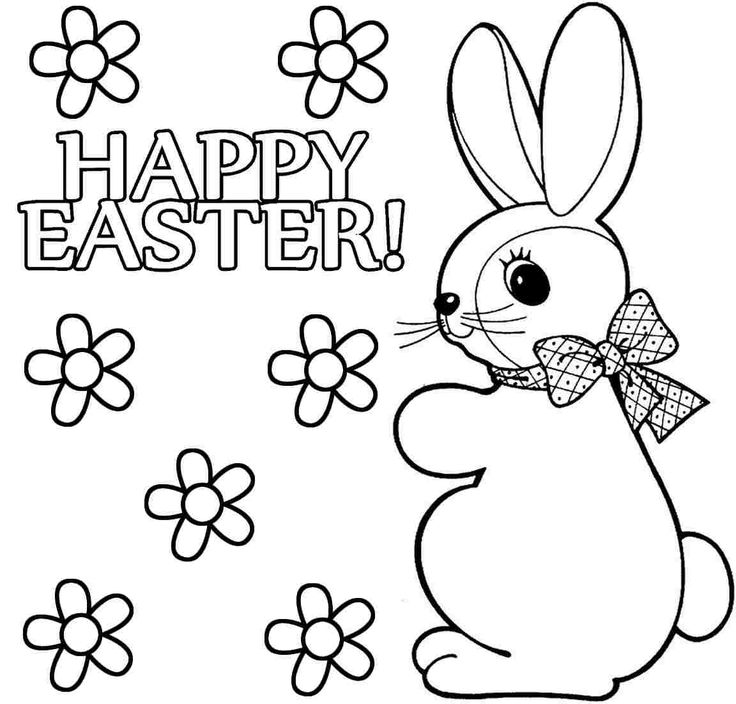 easter bunny rabbit coloring pages | 37 best easter for coloring/wielkanocne kolorowanki images ...