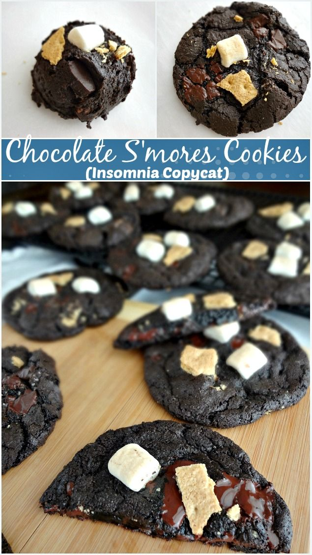 The Cooking Actress: Chocolate S'mores Cookies {Insomnia Copycat}-Guest Post at @javacupcake - A decadent cookie recipe that has become one of my new favorite desserts! Rich chocolate cookies with mini marshmallows and graham cracker pieces, yum!
