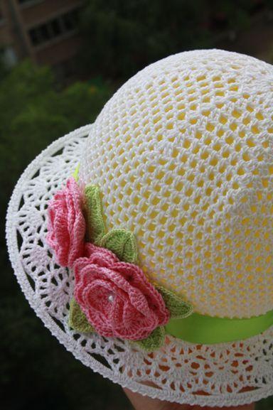 вязаная шляпка для девочки