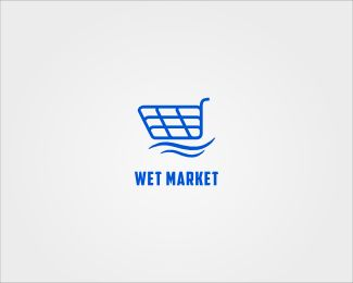Wet Market Logo design - Suitable in business and retail.<br />Strong for wet market which sell an animal like fresh fish, fresh meat, or fruits and vegetables. Price $0.00