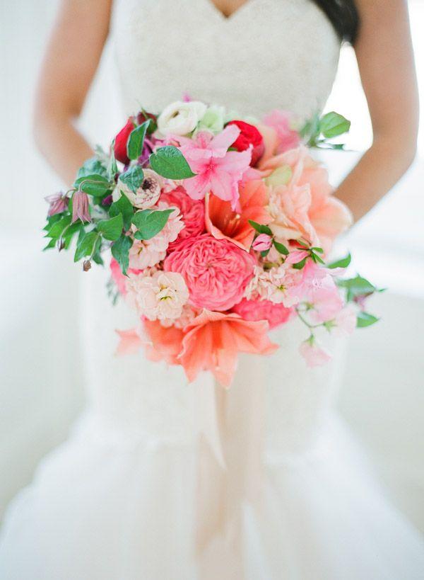 beautiful bouquet with azaleas