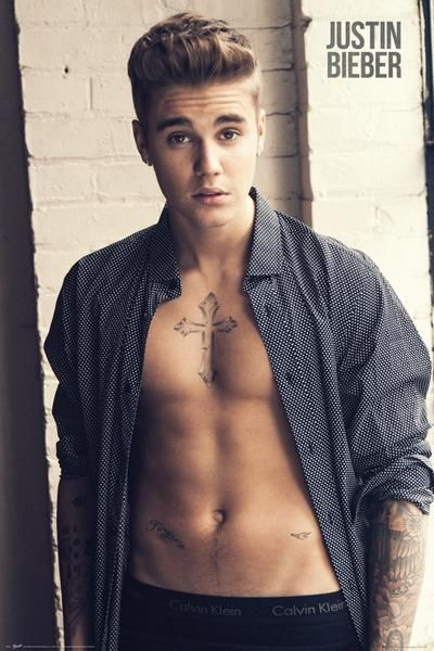 Justin Bieber Shirt - Official Poster. Official Merchandise. Size: 61cm x 91.5cm. FREE SHIPPING