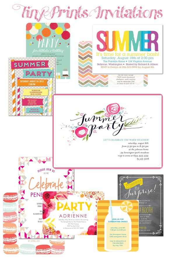 A beautiful Summer Party Inspiration board designed with some of our invitations. From the Shoes Off Please blog.