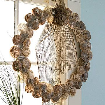 Whether found on the beach or bought in a craft store, shells can add a touch of seaside flair to any room.