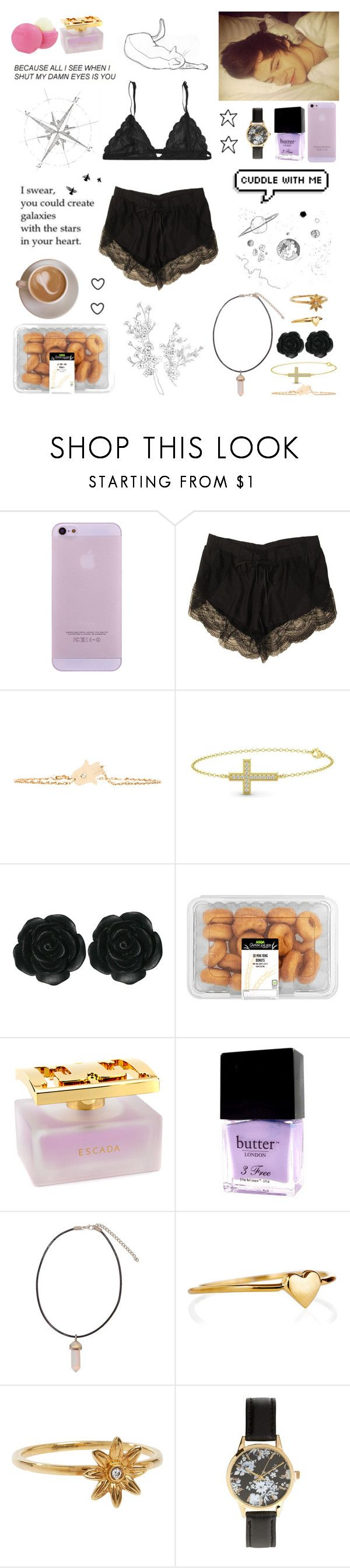"""""""because all i see when i shut my eyes is you"""" by lu-fonsecaa ❤ liked on Polyvore featuring Lover, Fleur of England, Jennifer Zeuner, Gemvara, Dollydagger, ESCADA, Eos, Butter London, Janna Conner and STONE"""