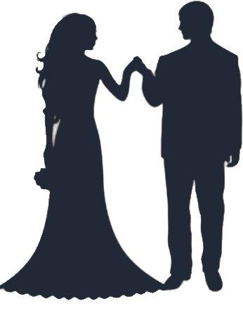 Free bride and groom silhouette clip art - ClipartFox