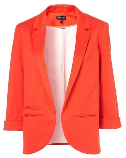 $68.00: Ponte Boyfriend, Orange, Style, Chic, Bright Blazer, Boyfriend Blazers, Color, Topshop, Boyfriends