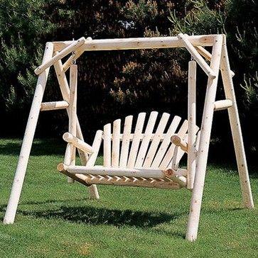 Best 25 garden swings ideas on pinterest yard swing for Log porch swing plans