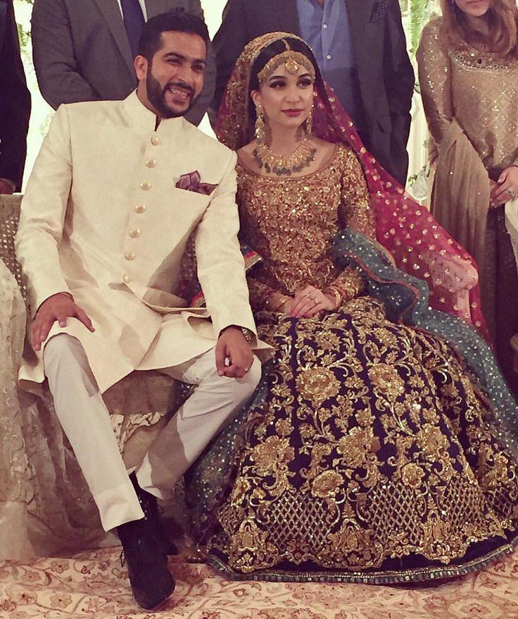Sana Ansari looking gorgeous on her valima in #nomiansari   Available for custom order. #bridalshop #bridalwear #desiwedding #indianwedding #pakistanibride #pakistanidesigner #pakistanifashion #bridalgown #pakistanfashion #farahtalibaziz #zarashahjahan #alixeeshan #bigfatindianwedding #buntokazmi #barat #mhendi #weddingdetails #pakistaniwedding  #pakistanibridal #formalwear #desibeautyblog #fahadhussayn #Sapphire #henna #elan #elanofficial #farazmanan #asianbridesblog  #valima