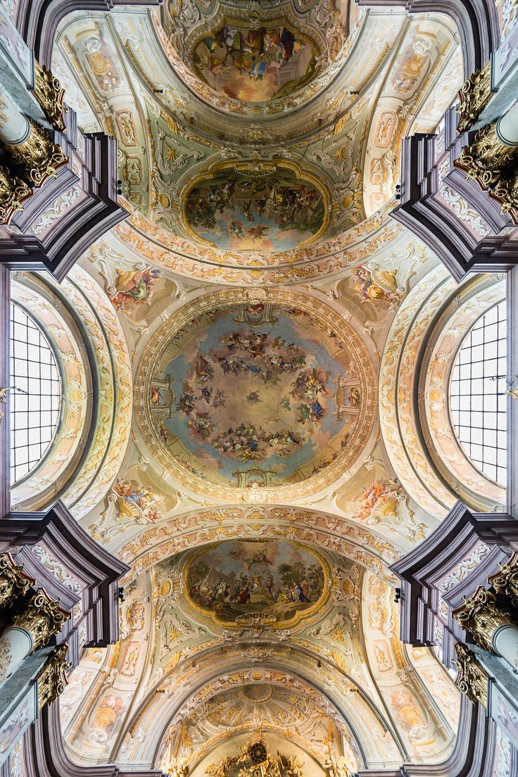 285 best baroque interiors and architecture images on pinterest ceiling frescos in herzogenburg abbey church lower austria by daniel gran left fresco dailygadgetfo Gallery
