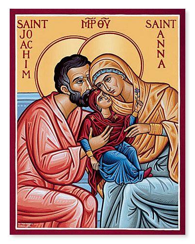 St. Joachim & St. Anna with the Theotokos