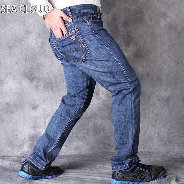 >> Click to Buy << Sea Cloud Free Shipping pants Leisure&Casual pants, Newly Style Zipper fly Straight Cotton Men Jeans long trousers size 36-52 #Affiliate