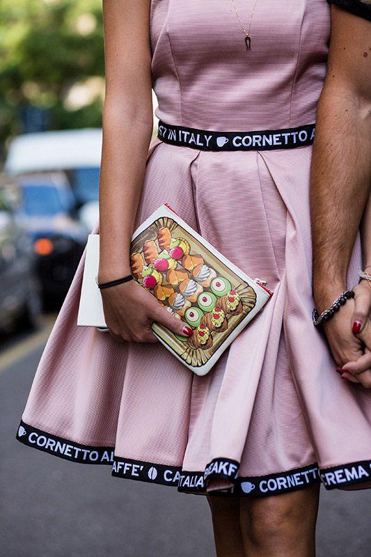 Orchid Pink Cherry Blossom Pink Baker-Miller Pink dress ball-gown dress cute dessert mini clutch