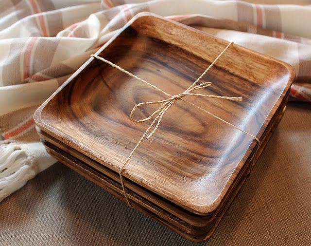 wooden plates & 739 best All Dinnerware Throughout Time images on Pinterest ...