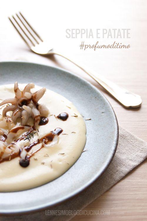 Straccetti di seppia su crema di patate (squid on potatoes cream) ©lennesimoblog