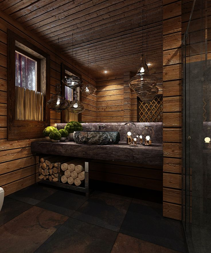 Northern house in the country. Bathroom. Made in a cooperation with People MA architecture and construction.