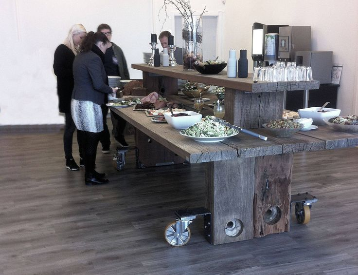 THORS Gaia Buffet Table, With Wheels