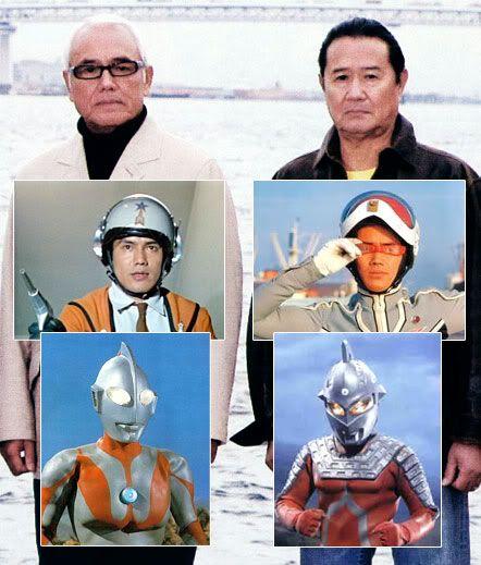Ultraman e Ultraseven juntos | Blog do Zemarcos (Hayata and Dan Moroboshi change into Ultaman and Utra Seven).