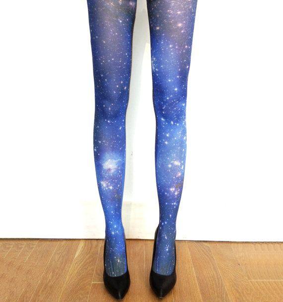 Galaxy Tights Magellanic Cloud Nebula Space Sheer by Shadowplaynyc, $32.00