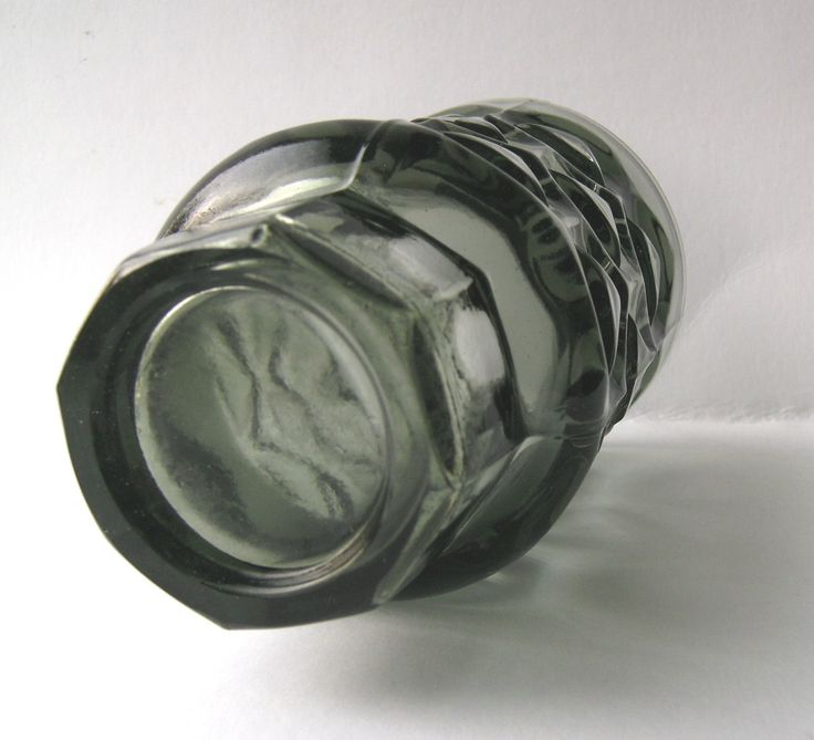 Vintage Grey Glass Vase Designed by Jan Sylvester Drost Sklo Union Era | eBay