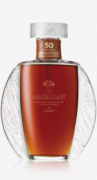 Macallan Lalique 50 Year Old Bottle