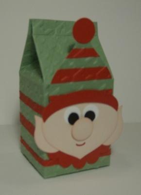 Stampin' Up!  Milk Carton  Jodi Murphy  Ornament Elf