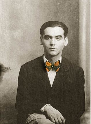 Image of Spanish poet Garcia Lorca manipulated by Chema Madoz