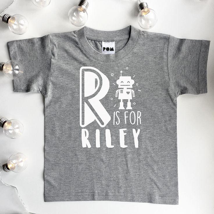 Personalised Boys Alphabet T Shirt  Personalised kids name T-shirt