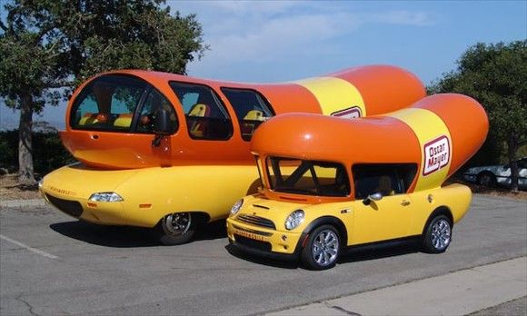 Oscar Mayer Wienermobile  Yes, that's a giant hot dog on wheels. No, you can't eat it. Yes, a handful of civilians — i.e., people who don't work for Oscar Mayer — have driven it, which means that you have a chance, however slim, to get behind the wheel. If you get that chance, take it. Do not look back. You are driving a hot dog the size of a city bus, and in that moment, you are one of the coolest people on the planet.