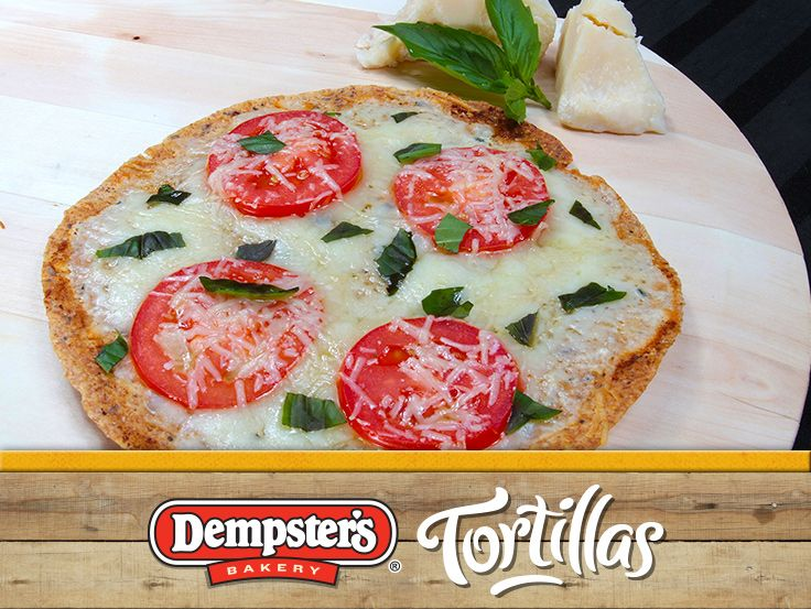 Forget ordering out, Have a pizza party and make Margherita Tortilla Pizzas for dinner! @Dempster's® Bakery #WrapItUp