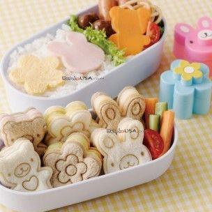 Japanese Bento Accessories Sandwich Ham Cheese Cutter Small Animal and Flower