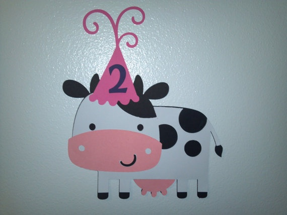 Cow+Birthday+Decoration+by+AJDsPartyDecorations+on+Etsy,+$8.00