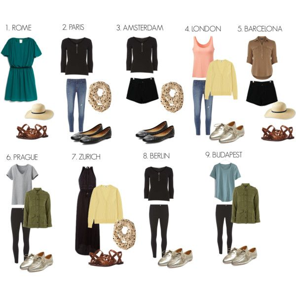 Travel Outfits for Europe: Summer