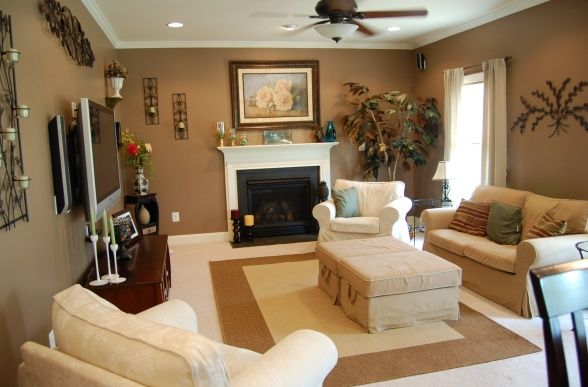25 best ideas about chocolate living rooms on pinterest for Light brown interior paint