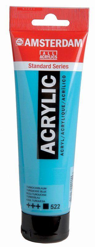 Talens Amsterdam Acrylverf Standard.  Plastic tube inhoud 120 ml.  Leverbaar in 70 verschillende kleuren.  Gels en Pasta's zie aparte rubriek.