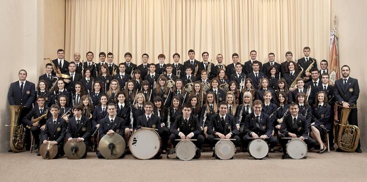 140 anys de la Banda unió musical de Gata de Gorgos... Jo estic dalt de tot a la esquerra...