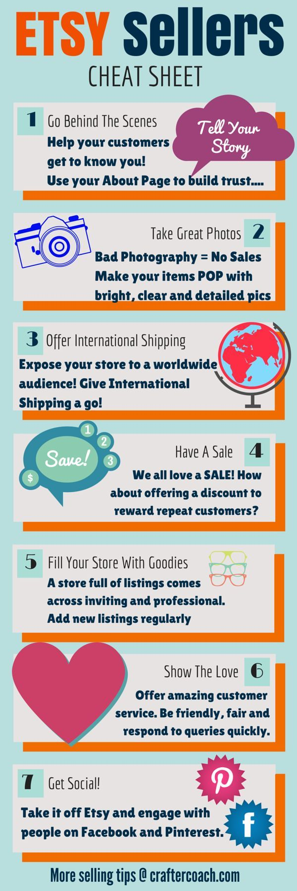 INFOGRAPHIC - 7 Tips For Selling On Etsy in 2015