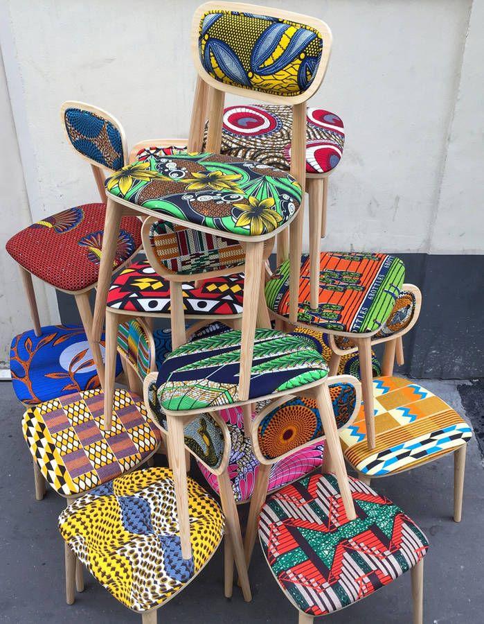 Chaises Wax Going On    le WAX est la grosse tendance de 2017 ; l'Afrique à l'honneur