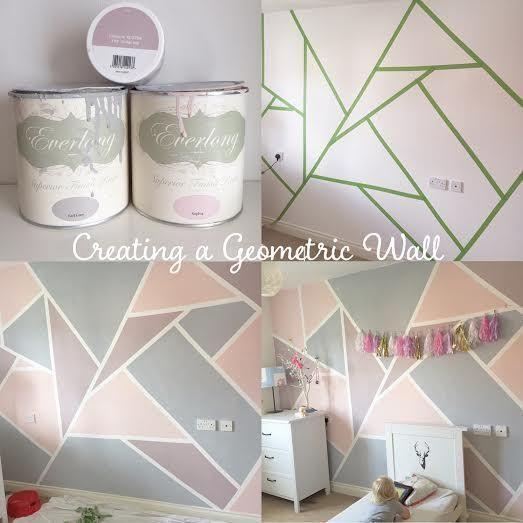 So erstellen Sie eine geometrische Wand mit Everlong Paint