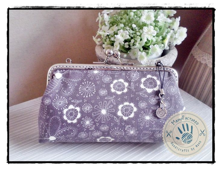 Spring purse, 17 cm by ManoFactured on Etsy
