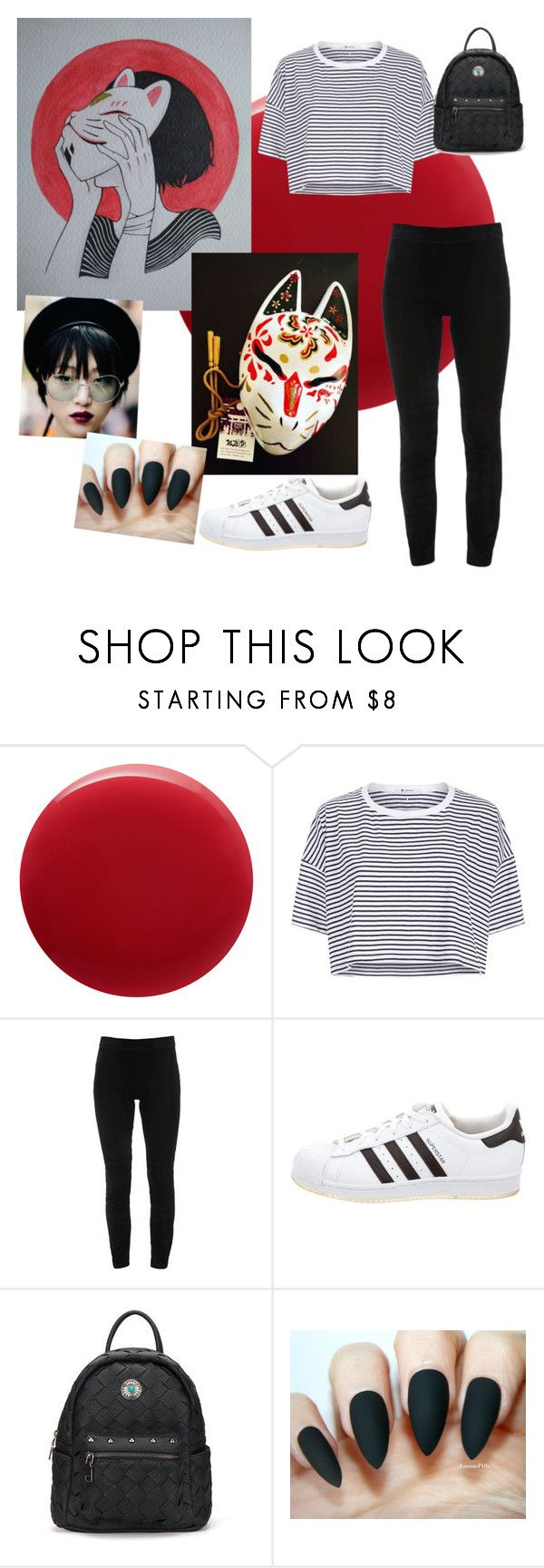"""""""Halloween: Kitsune"""" by snow21white on Polyvore featuring Oribe, T By Alexander Wang, Elie Tahari and adidas"""