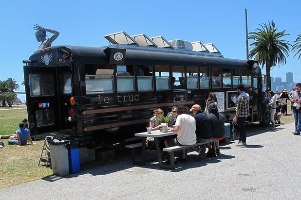 Le Truc – San Francisco. Love how they manage to use the outdoor space on both sides.