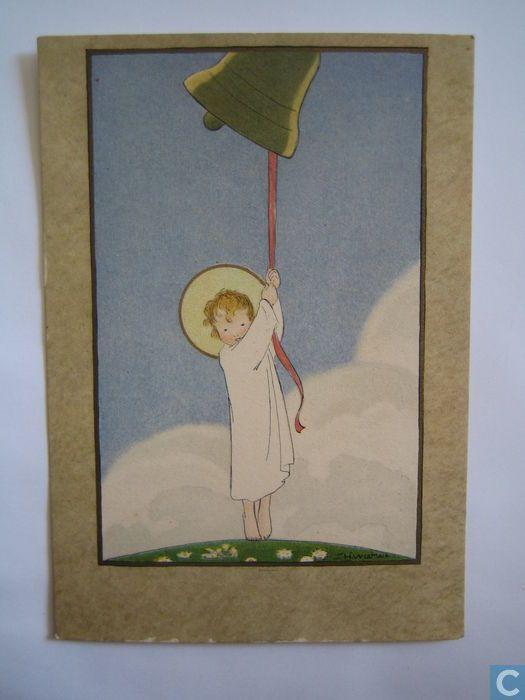 Ansichtkaarten - Voor het kind kaarten - Feestklok - 1936 - Ontwerper: Willebeek Le Mair, Henriëtte