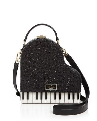 Baby grand: This glittering crossbody by kate spade new york makes beautiful music with your favorite evening looks. | Leather | Imported | Top handle, detachable adjustable crossbody strap | Pushlock