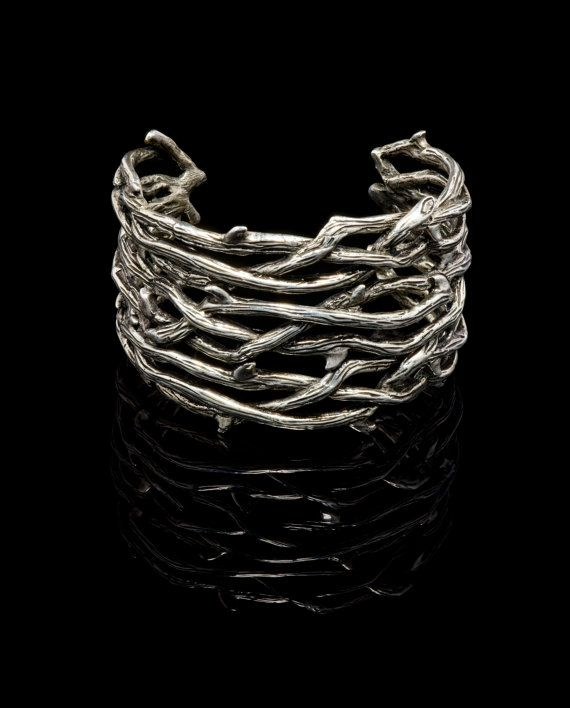 Gothic Jewelry Large Thorn Cuff Bracelet by VampireGothic #jewellery