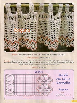 Puntilla - crochet curtain