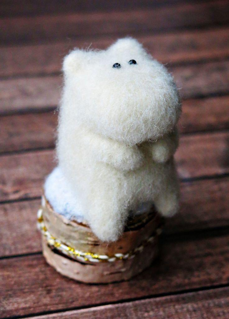 Felted moomin-troll |Купить Муми-тролль игрушка - войлочная игрушка Муми-тролль в интернет магазине на Ярмарке Мастеров