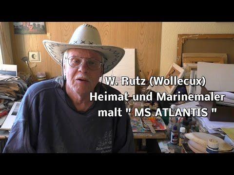 Malen mit Ölfarben - MS ATLANTIS vor Helgoland - YouTube
