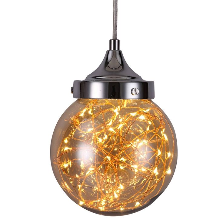 (49.99$)  Watch here - http://ail51.worlditems.win/all/product.php?id=32796979849 - JEMMY HO Firefly LED Pendant Lights with Champagne Lampshade Modern Simple Creative Stars LED Pendant Lamp for Home Decoration